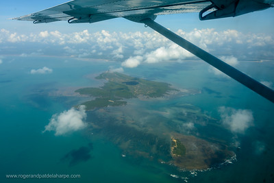 Aerial view of Kwale Island. Tanzania