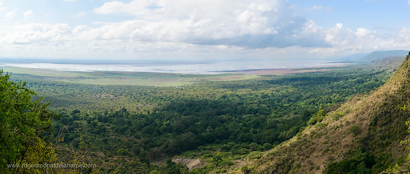 Lake Manyara and Rift Valley Escarpment. Tanzania