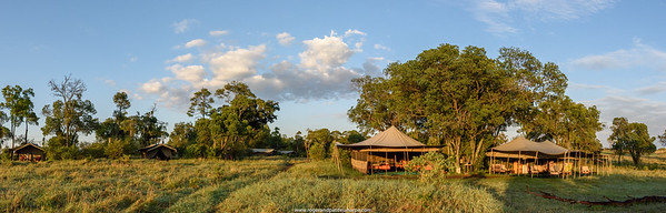 Wilderness Safaris' camp near the Mara River in the north of the Serengeti National Park. Tanzania