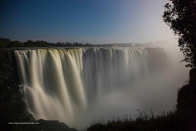 Victoria Falls or Mosi-oa-Tunya at Main Falls. Zimbabwe