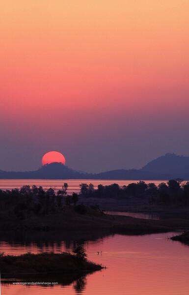 Sunset over Lake Kariba. Chimanimani. Zimbabwe