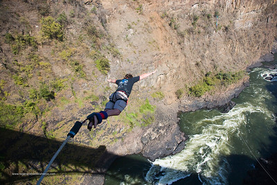 Bungee or Bungi Jumping. Victoria Falls. Zimbabwe