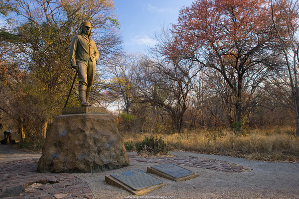 David Livingstone statue at Victoria Falls. Zimbabwe