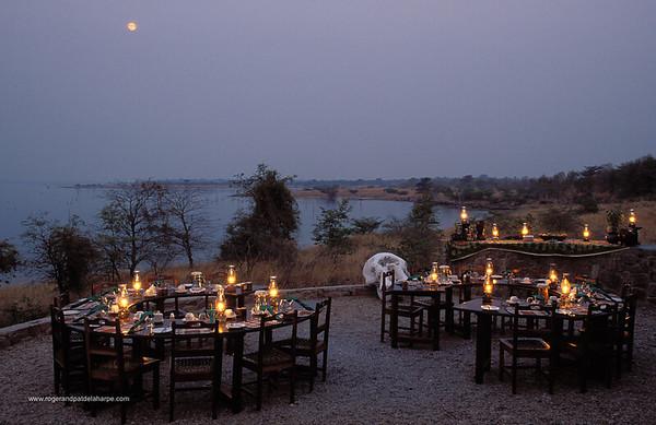 Dining are at Masango Lodge. Matusadona National Park. Zimbabwe