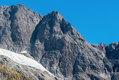 North East Face of Patuki and pt 2161m & pt 2223m, Cleft Creek, Darran Mountains, Fiordland National Park, New Zealand