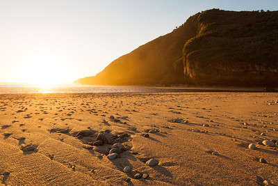 Sunset at the Heaphy River Mouth, Heaphy Beach, Kahurangi National Park