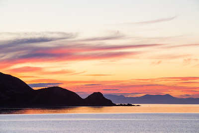 Sunset from Plimmerton Beach, South Island in the background, Kapiti Coast, Wellington