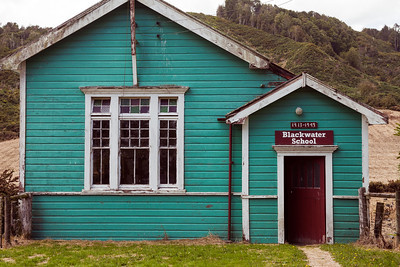 Historic Blackwater rural school house, Buller District, South Island