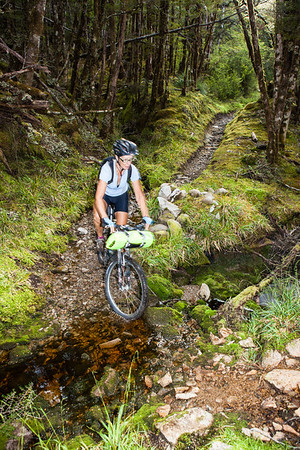 Hana training for the 2012 Kiwi Brevet on the Big River track, Reefton.