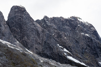 South East Faces of Milne and Syme, Darran Mountains, Fiordland National Park