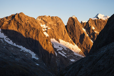 Mounts Makere, Tarewai and Milne, Darran Mountains, Fiordland National Park