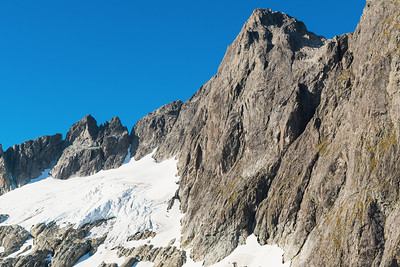 North east aspect of Mt Patuki and Pt 2161m, Cleft Creek, Darran Mountains, Fiordland National Park, New Zealand