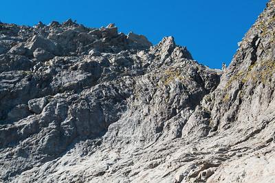 Western side of Pakihaukea Pass, below pt 1976m, Darran Mountains, Fiordland National Park, New Zealand