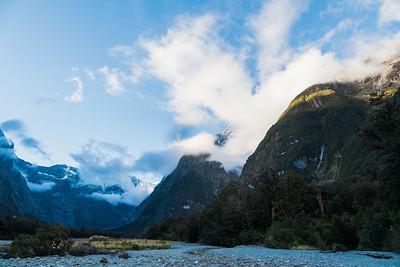 Tutoko Valley, Darran Mountains, Fiordland National Park, New Zealand