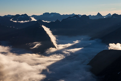 Donne Valley and Darran Mountains, Fiordland National Park
