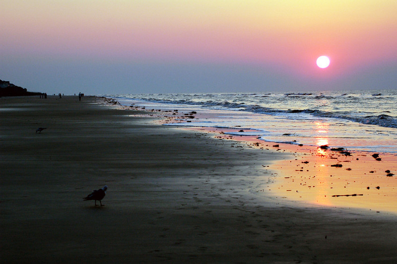 A beautiful sunrise over the beach at Hilton Head
