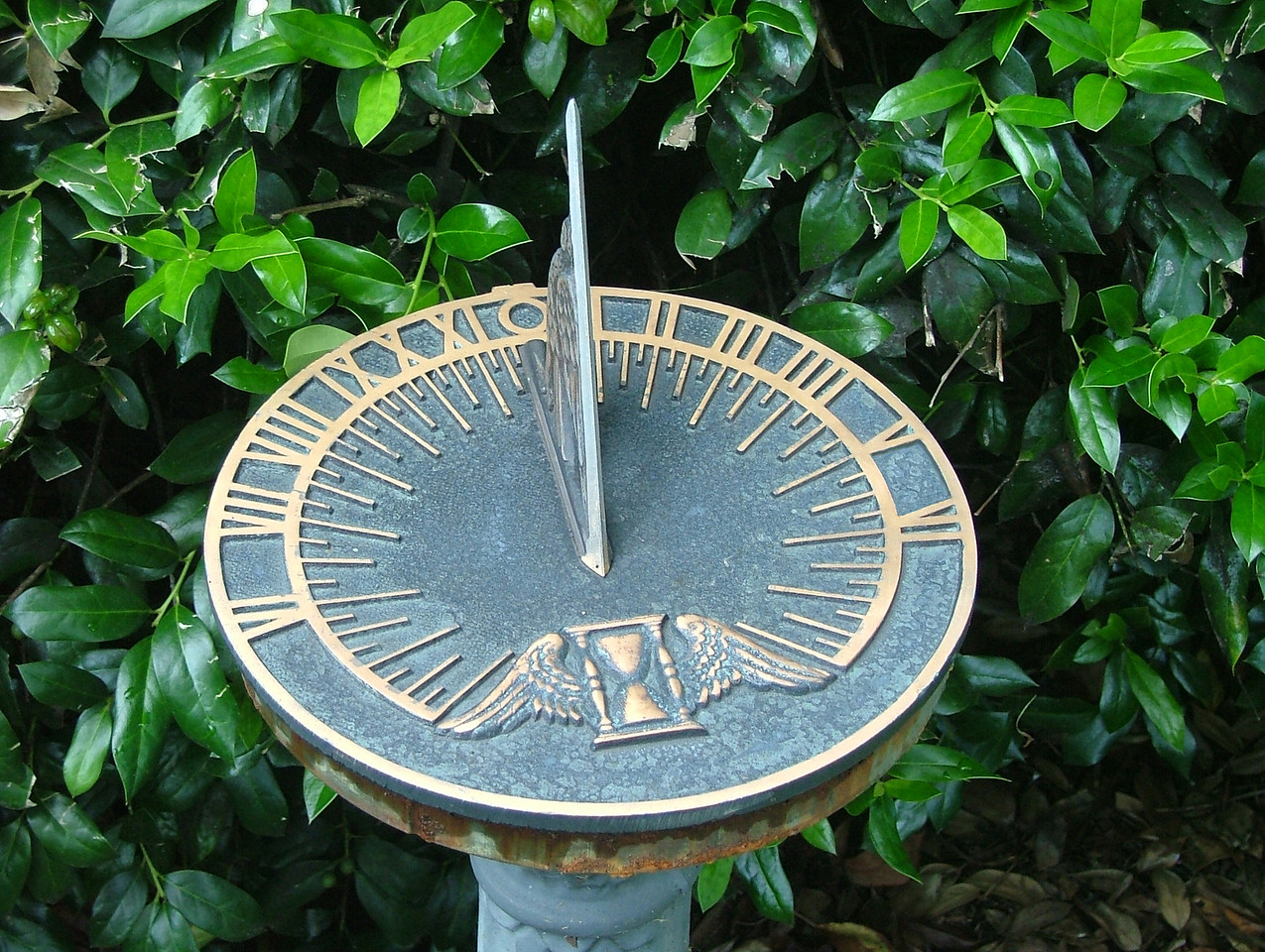 A sundial cannot tell time without the sun.