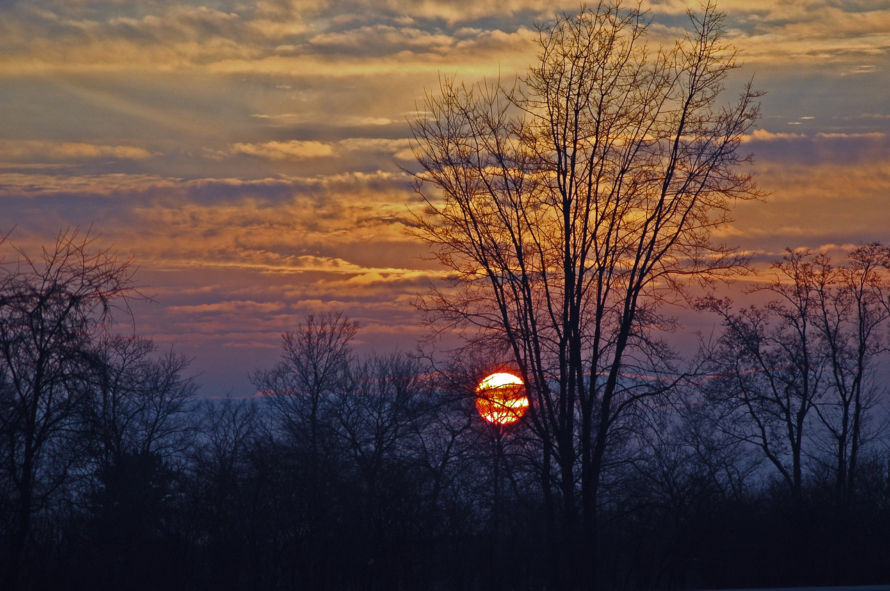 """Without a double, Indiana sunsets provide a nice way to """"close the curtains"""" on the day."""