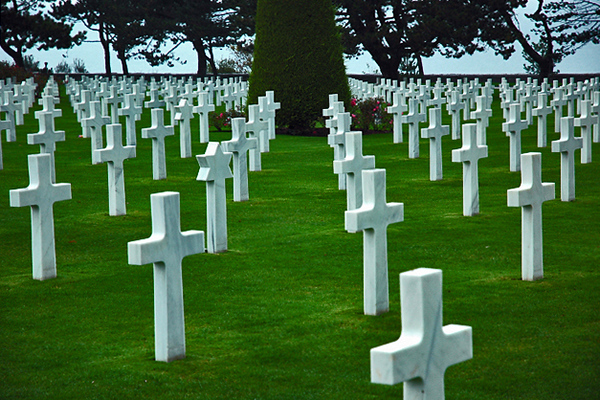 "The American cemetery at Omaha Beach, Normandy, France is well cared for. The French today are teaching their children to ""go and thank the Americans for what they have done for us."" I heard these words spoken by a teacher giving his young students a tour of the Normandy Museum; afterwhich, our group was greeted, thanked and hugged by the students... a moment to be cherished and never forgotten."