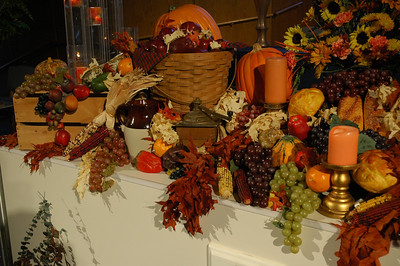 A Thanksgiving display