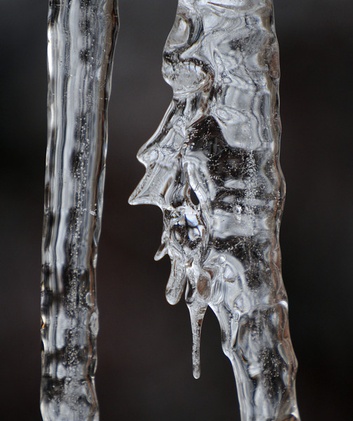This is the same icicle as described in the former photo but at a slightly different angle and a little closer.