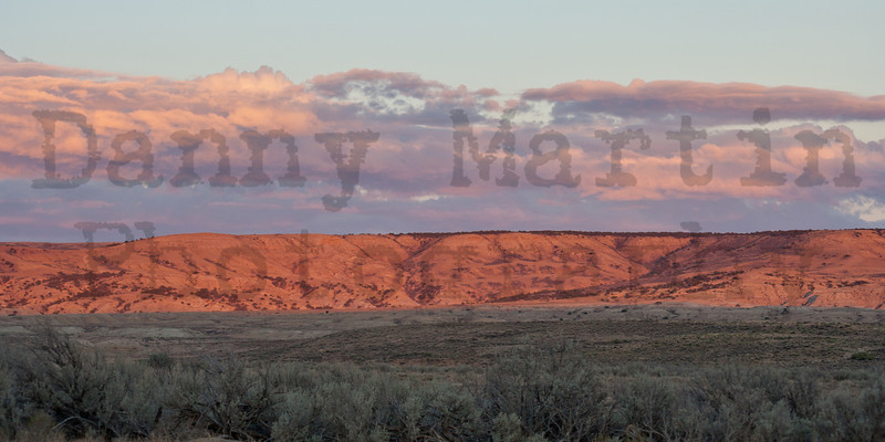 Sunset along the Little Snake River.  Moffat County, Colorado.