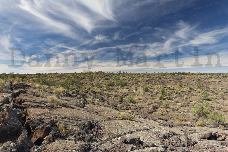 Old lava flows at El Malpais National Monument, New Mexico.