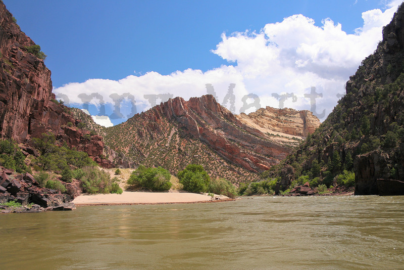 twisted rock along the Green River.  Dinosaur National Park, CO.