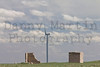 Wind Turbine and abandoned homestead.<br /> Weld County, Colorado.