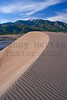 dune over the Sangre de Cristo range.  Great Sand Dunes National Park, CO.