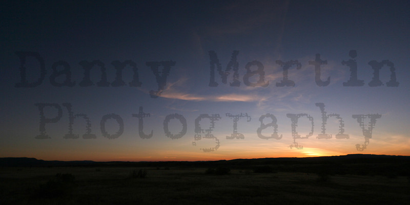 Sunset.  Moffat County, Colorado.