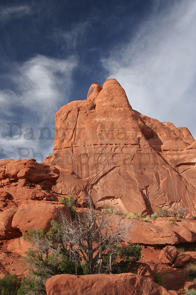 red rock.  Arches National Park, UT.