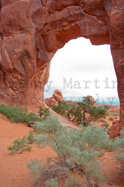 through the window.  Arches National Park, UT.