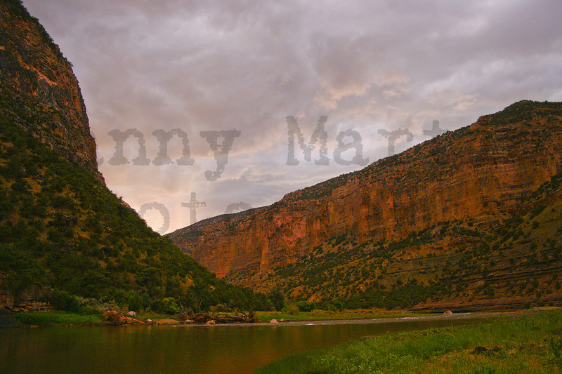 sunset in the Green River Canyon.  Dinosaur National Park, CO.