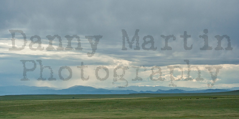 Front Range of the Rockies, from the eastern plains<br /> Pawnee National Grassland, Colorado.