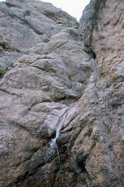 Horsetooth Falls, autumn.  Horsetooth Mountain Park, Larimer County, Colorado. (slide scan)