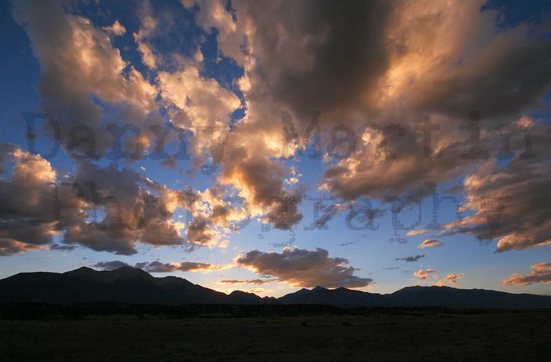 Sunset.  near Buena Vista, CO.