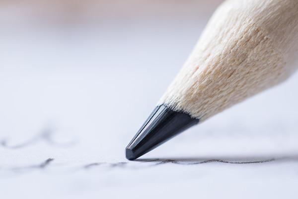 Macro Pencil Writing