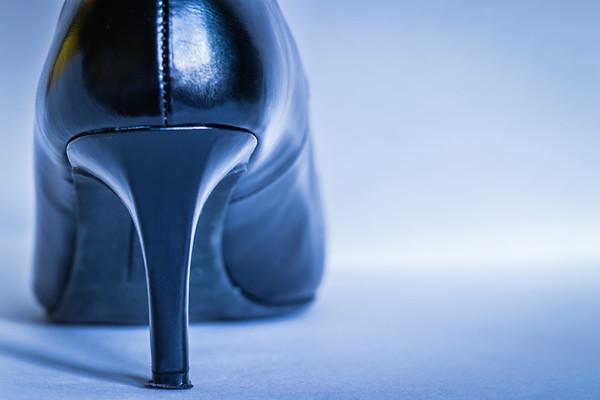 Woman's Black Heel