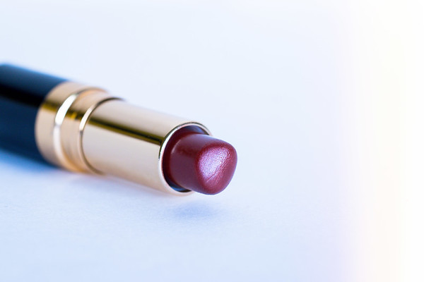 Red Lipstick on a white background