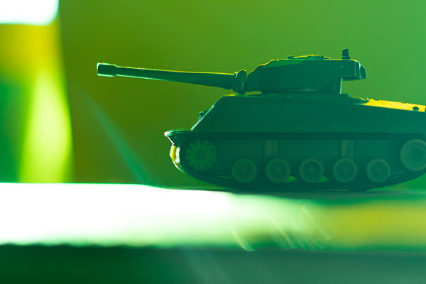 Green Toy Army Tank
