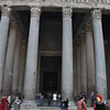 costumed interpreters outside the Pantheon, Rome, Italy