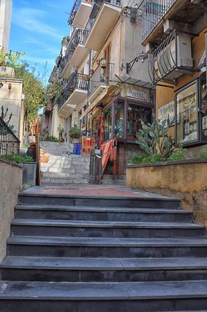 small street, Taomina, Sicily, Italy