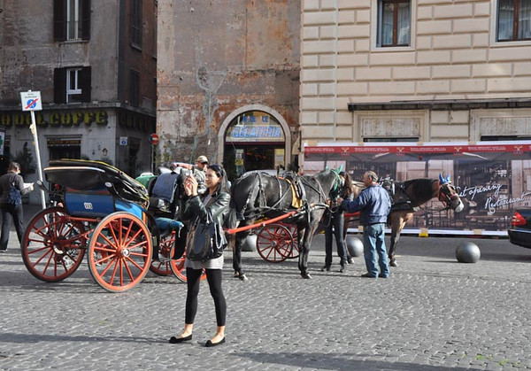 carriage rides offered, Rome, Italy