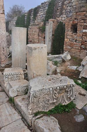 The Roman ruins at Ephesus, Turkey.