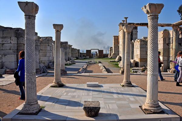 Basilica of St. John, Ephesus, Turkey. Central corridor.