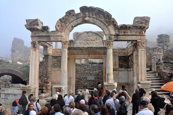 The Roman ruins at Ephesus, Turkey 196. Temple of Hadrian on Curetes Street.