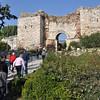 Ephesus, Turkey. Entrance to the Basilica of St. John on Ayasuluk Hill.