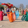 The Roman ruins at Ephesus, Turkey 259. Dancing girls and other re-enactors.