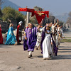 The Roman ruins at Ephesus, Turkey. Re-enactors.